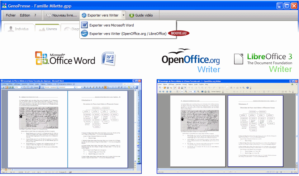 Imprimer sa g n alogie avec writer ou word - Telecharger writer open office gratuit ...